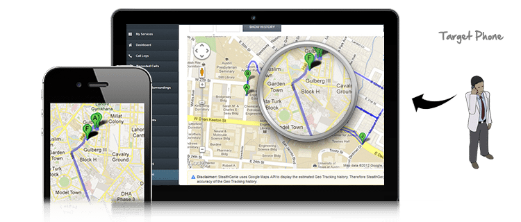 View Complete Travel Route On Map Cell Phone Location Tracking - Travel mapping software